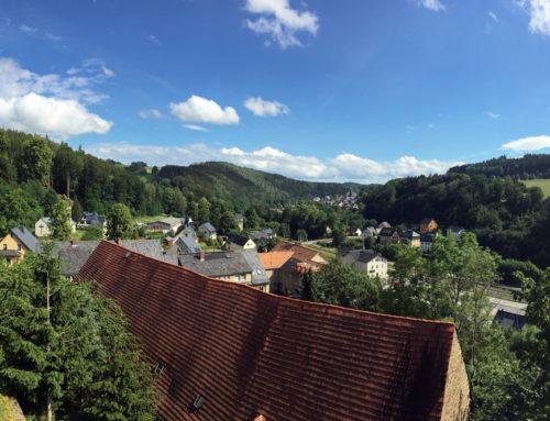 Romantisches Tal der Zschopau bei Scharfenstein