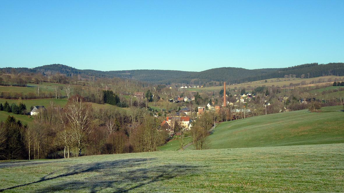 Blick auf Tannenberg. Foto: Chris Bergau / bergau-media.com